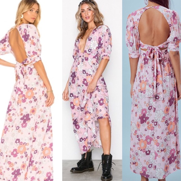 81b9cd9f7c2 For Love and Lemons Magnolia Maxi Dress